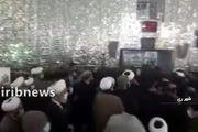 فیلم: مراسم وداع با پیکر آیت الله مصباح یزدی