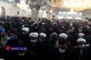 فیلم: اقامه نماز بر پیکر آیت الله مصباح یزدی